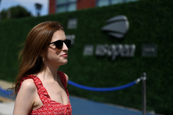 Anna Kendrick Enjoys The Mercedes-Benz VIP Suite At The US Open