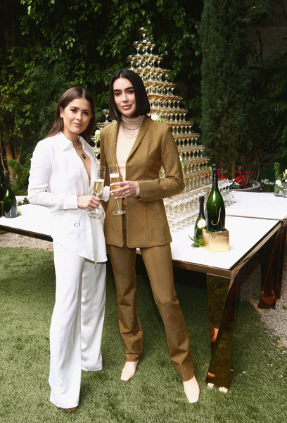 The 6th Annual Gold Meets Golden With Vibrant J Sparkling Wine [6th annual gold meets golden with vibrant j sparkling wine,botany,table,leisure,event,furniture,wine,brittany xavier,paola alberdi,gold,west hollywood,california,the house,l]