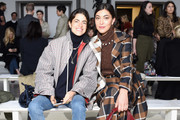 Leandra Medine (L) and Sarah Staudinger attend the Brock Collection front row during New York Fashion Week: The Shows at Gallery I at Spring Studios on February 8, 2019 in New York City.