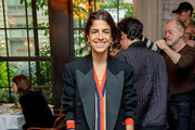 Leandra Medine attends the Brock Collection fashion show at the 11 Howard Hotel on September 9, 2018 in New York City.