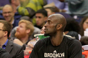 Kevin Garnett #2 of the Brooklyn Nets sits on the bench during the first half against the Washington Wizards at Verizon Center on January 16, 2015 in Washington, DC. NOTE TO USER: User expressly acknowledges and agrees that, by downloading and or using this photograph, User is consenting to the terms and conditions of the Getty Images License Agreement.