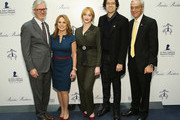 (L-R) Claudio Del Vecchio, Maria Thomas, Christina Hendricks, Geoffrey Arend and Rick Shadyac attend an evening hosted by Brooks Brothers to celebrate the holidays with St. Jude Children's Research Hospital at Brooks Brothers on December 13, 2016 in New York City.