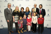 (L-R) Claudio Del Vecchio, Emilie Antonetti, Marlo Thomas, Rick Shadyac, Matteo Del Vecchio and St. Jude patients attend an evening hosted by Brooks Brothers to celebrate the holidays with St. Jude Children's Research Hospital at Brooks Brothers on December 13, 2016 in New York City.