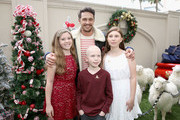 James Franco with St. Jude patients Cole and Kaylee attend the Brooks Brothers and St Jude Children's Research Hospital Annual Holiday Celebration at the Beverly Wilshire Four Seasons Hotel on December 9, 2018 in Beverly Hills, California.