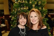 Emilie Antonetti and Marlo Thomas attend the Brooks Brothers And St Jude Children's Research Hospital Annual Holiday Celebration In New York City on December 18, 2018 in New York City.