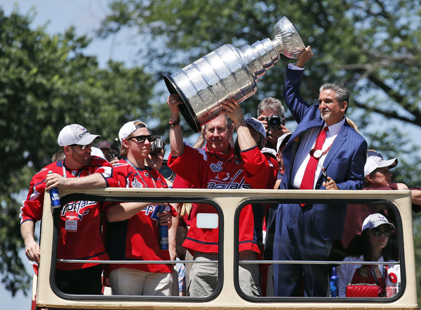 Washington Capitals Victory Parade And Rally [red,vehicle,community,fun,tourism,waterway,event,team,parade,leisure,ted leonsis,alex ovechkin,champion,help,washington capitals,nhl,l,rally,washington capitals victory parade,stanley cup]