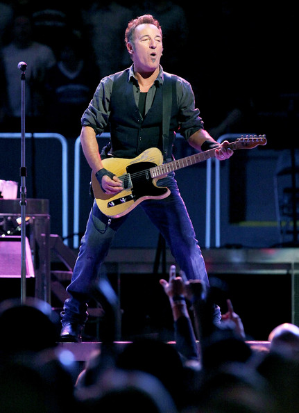Bruce Springsteen In Bruce Springsteen And The E Street Band Perform At Madison Square Garden