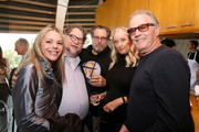 (L-R) Writer Kim Morgan, director Guillermo del Toro, director Julian Schnabel, Margaret DeVogelaere and actor Peter Fonda attend a Brunch Celebrating The Release of 'At Eternity's Gate' on November 04, 2018 in Los Angeles, California.