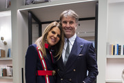Anna dello Russo and Brunello Cucinelli are seen at the Brunello Cucinelli presentation during Milan Fashion Week Autumn/Winter 2019/20 on February 20, 2019 in Milan, Italy.
