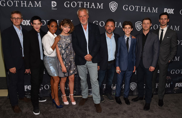 Fox's 'Gotham' Finale Screening Event - Red Carpet [red carpet,event,suit,premiere,formal wear,white-collar worker,ceremony,team,brand,john stephens,taylor,actors,executive producers,danny cannon,bruno heller,fox,gotham finale screening event,gotham season finale screening]