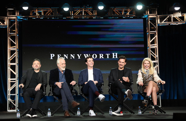 2019 Winter TCA Tour - Day 13 [pennyworth,stage,event,performance,performing arts,heater,talent show,team,stage equipment,competition,musical theatre,winter tca,danny cannon,bruno heller,paloma faith,ben aldridge,jack bannon,l-r,pasadena,segment]