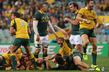 Bryan Habana Adam Ashley-Cooper Australia v South Africa - The Rugby Championship