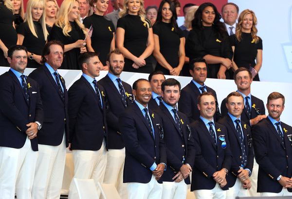 2018 Ryder Cup - Opening Ceremony [team,social group,event,uniform,crew,championship,competition,competition event,paris,france,le golf national,ryder cup,ceremony,opening ceremony,team,united states]