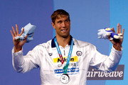 Silver medalist Matt Grevers of the United States poses with the medal won during the Men's 100m Backstroke final on day twelve of the Budapest 2017 FINA World Championships on July 25, 2017 in Budapest, Hungary.