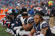 Jabaal Sheard #93 of the New England Patriots and teammates react in the last few minutes of a loss to the Buffalo Bills at Gillette Stadium on October 2, 2016 in Foxboro, Massachusetts.