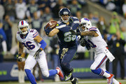Tight end Jimmy Graham #88 of the Seattle Seahawks makes his second one-handed touchdown against the Buffalo Bills at CenturyLink Field on November 7, 2016 in Seattle, Washington.