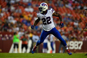 Running back Reggie Bush awaits the ball during the game between the Washington Redskins and the Buffalo Bills at FedExField on August 26, 2016 in Landover, Maryland. The Redskins defeated the Bills 21-16.