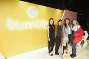 (L-R) Head of Brand at Bumble Alexandra Williamson, Singer/songwriters Jennifer Decilveo, Ali Tamposi and singer Fletcher attend Bumble Presents: Empowering Connections at Fair Market on March 9, 2018 in Austin, Texas.