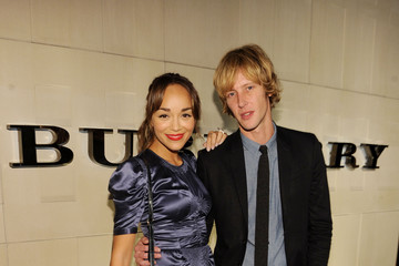 Gabriel Mann Ashley Madekwe Burberry Body Event Hosted By Christopher Bailey And Rosie Huntington-Whiteley In Beverly Hills - Red Carpet