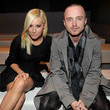 She gets stylish with Aaron Paul.