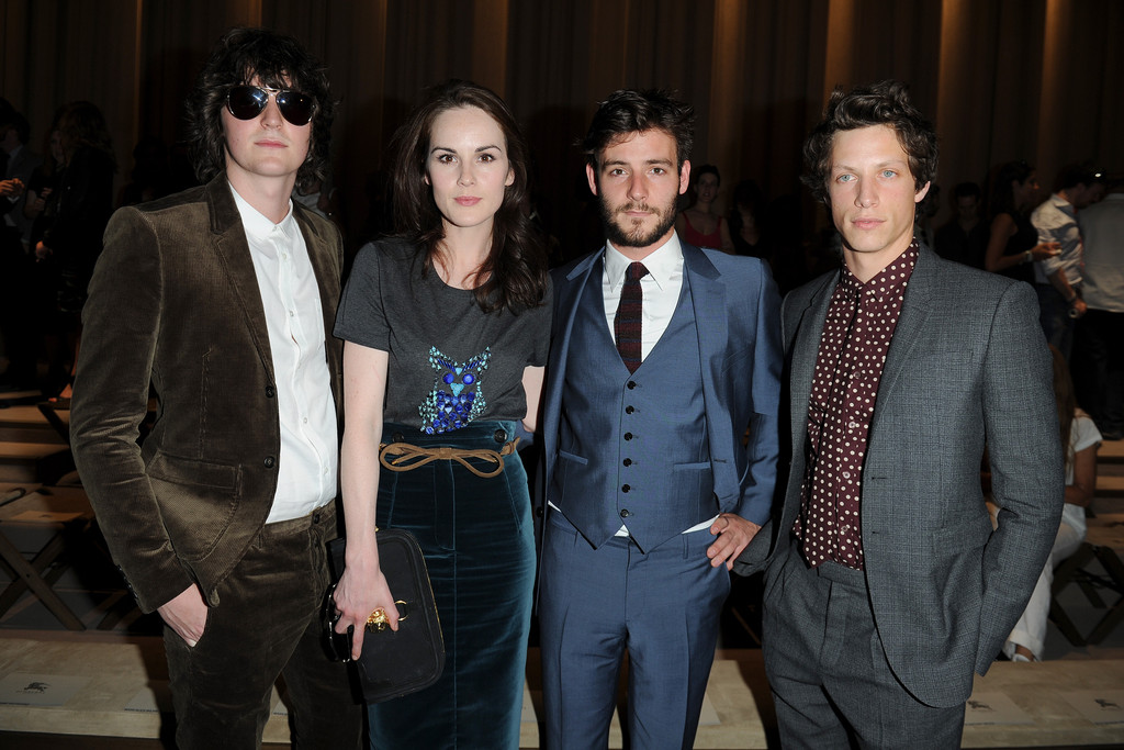 Michelle Dockery in Burberry Prorsum: Front Row