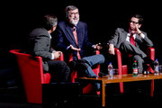 "(L-R)  Filmmakers Mario Sesti, John Landis and Antonio Monda attend the ""Burke & Hare"" premiere during The 5th International Rome Film Festival at Auditorium Parco Della Musica on October 29, 2010 in Rome, Italy."