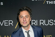 """Actor Zach Braff attends """"Burn This"""" Opening Night at Hudson Theatre on April 15, 2019 in New York City."""