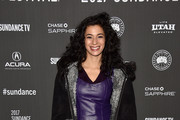 """Actress Angelic Zambrana attends the """"Bushwick"""" premiere on day 3 of the 2017 Sundance Film Festival at Library Center Theater on January 21, 2017 in Park City, Utah."""
