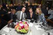 (L-R) Tour Manager Corey Gamble, Designer Tommy Hilfiger, Talent Manager, Jenner Communications, Kris Jenner, and Entrepreneur, Fashion Designer Dee Ocleppo Hilfiger attend an intimate dinner hosted by The Business of Fashion to celebrate its latest special print edition 'The Age of Influence' at Peachy's/Chinese Tuxedo on May 8, 2018 in New York City.