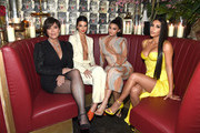 (L-R) Talent Manager, Jenner Communications, Kris Jenner, Model Kendall Jenner,  Founder, Kylie Cosmetics Kylie Jenner, and Founder and CEO, KKW Kim Kardashian attends an intimate dinner hosted by The Business of Fashion to celebrate its latest special print edition 'The Age of Influence' at Peachy's/Chinese Tuxedo on May 8, 2018 in New York City.