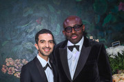 Imran Amed with Edward Enninful attending the gala dinner in his honour, for winning of the Global VOICES Award 2019, during #BoFVOICES on November 22, 2019 in Oxfordshire, England.