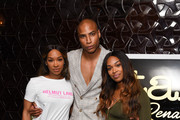 Malika Haqq, Dorion Renaud and Khadijah Haqq attend Buttah Skincare Launch Hosted By Lauren London at The District by Hannah An on October 2, 2018 in Los Angeles, California.
