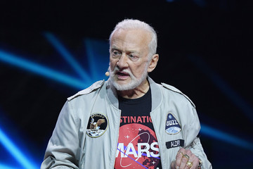 Buzz Aldrin Celebs Attend WE Day New York Welcome to Celebrate Young People Changing the World