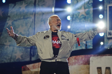 Buzz Aldrin Shay Mitchell Hosts WE Day Illinois to Celebrate Young People Changing the World
