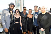 (L-R) Cress Williams, Christine Adams, China Anne McClain, Jordan Calloway and Krondon at BuzzFeed Presents: A Batsh!t Crazy Bash With The CW's Batwoman at San Diego Marriott Gaslamp Quarter on July 19, 2019 in San Diego, California.
