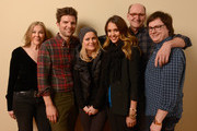 (L-R) Actors Catherine O'Hara, Adam Scott, Amy Poehler, Jessica Alba, Richard Jenkins and Clark Duke pose for a portrait during the 2013 Sundance Film Festival at the Getty Images Portrait Studio at Village at the Lift on January 23, 2013 in Park City, Utah.