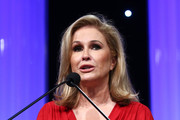 Kathy Hilton accepts the Robert Morrison Community Service award during the CASA Of Los Angeles' 2018 Evening To Foster Dreams Galaat The Beverly Hilton Hotel on April 18, 2018 in Beverly Hills, California.