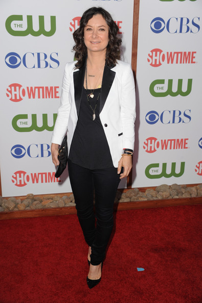 Actress Sara Gilbert arrives at the TCA Party for CBS, The CW and Showtime held at The Pagoda on August 3, 2011 in Beverly Hills, California.