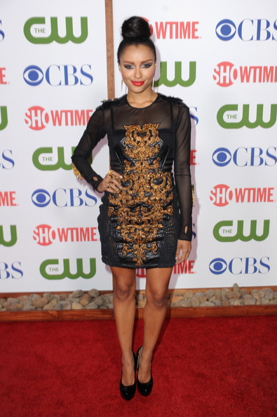 Actress Kat Graham arrives at the TCA Party for CBS, The CW and Showtime held at The Pagoda on August 3, 2011 in Beverly Hills, California.
