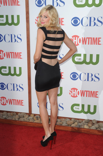 Actress Beth Behrs arrives at the TCA Party for CBS, The CW and Showtime held at The Pagoda on August 3, 2011 in Beverly Hills, California.