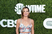 Actress Melissa Claire Egan arrives at the CBS, CW, Showtime Summer TCA Party at Pacific Design Center on August 10, 2016 in West Hollywood, California.