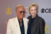 "Pat Boone (L) and Jane Lynch attend CBS' ""The Carol Burnett Show 50th Anniversary Special"" at CBS Televison City on October 4, 2017 in Los Angeles, California."