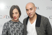 (L-R) Designers Erin Beatty and Max Osterweis attends the CFDA 2013 Awards Nomination event on March 13, 2013 in New York City.