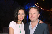 Wendi Murdoch and Founder of Soho House Nick Jones attend a dinner and auction hosted by CHANEL to benefit The Henry Street Settlement at Soho Beach House on December 5, 2012 in Miami Beach, Florida.