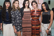 (L-R) Asia Chow, Sistine Stallone, Langley Fox, Rainey Qualley and Aleali May attend the Chanel Ephemeral Boutique opening at Nordstrom on November 28, 2017 in Seattle, Washington.