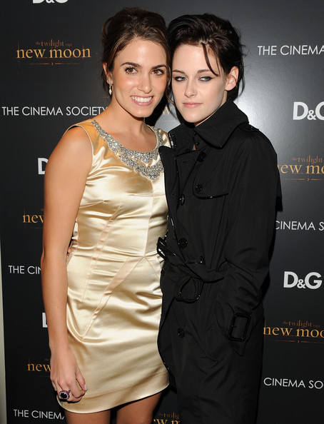 Actors Nikki Reed and Kristen Stewart attend THE CINEMA SOCIETY and D&G screening of THE TWILIGHT SAGA: NEW MOON at Landmark's Sunshine Cinema on November 19, 2009 in New York City.