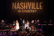 Chris Carmack, Clare Bowen, Charles Esten, Maisy Stella, Lennon Stella and Sam Palladio perform at Grand Ole Opry House on March 25, 2018 in Nashville, Tennessee.