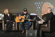 (L-R) Beverlee Brannigan of EW Scripps Company, artist Brad Paisley and RJ Curtis Vice President of VP Country, Nashville Editor and All Access Music Group speak onstage during day 2 of CRS 2018 on February 6, 2018 in Nashville, Tennessee.