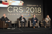 (L-R) RJ Curtis Vice President of VP Country, Nashville Editor All Access Music Group interviews Partner-Stone Door Media Jeff Green, KKGO Radio's Michael Levine and VP Promotions UMG Nashville Katie Dean onstage during day 3 of CRS 2018 Nashville, Tennessee.