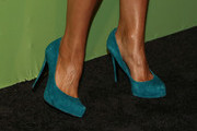 Actress Ciara Renee, shoe detail, attends The CW Network's New York 2015 Upfront Presentation at The London Hotel on May 14, 2015 in New York City.